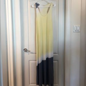 Joie Soft yellow and gray maxi dress